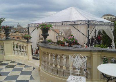 Allestimento Terrazza di un Palazzo a Piazza Montecitorio