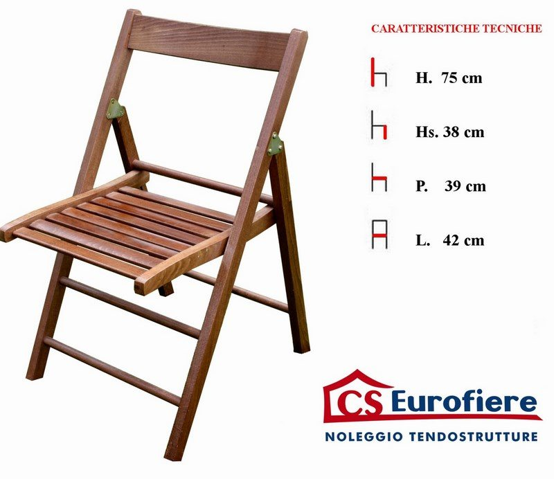 Sedie pieghevoli c s eurofiere for Sedie pieghevoli legno