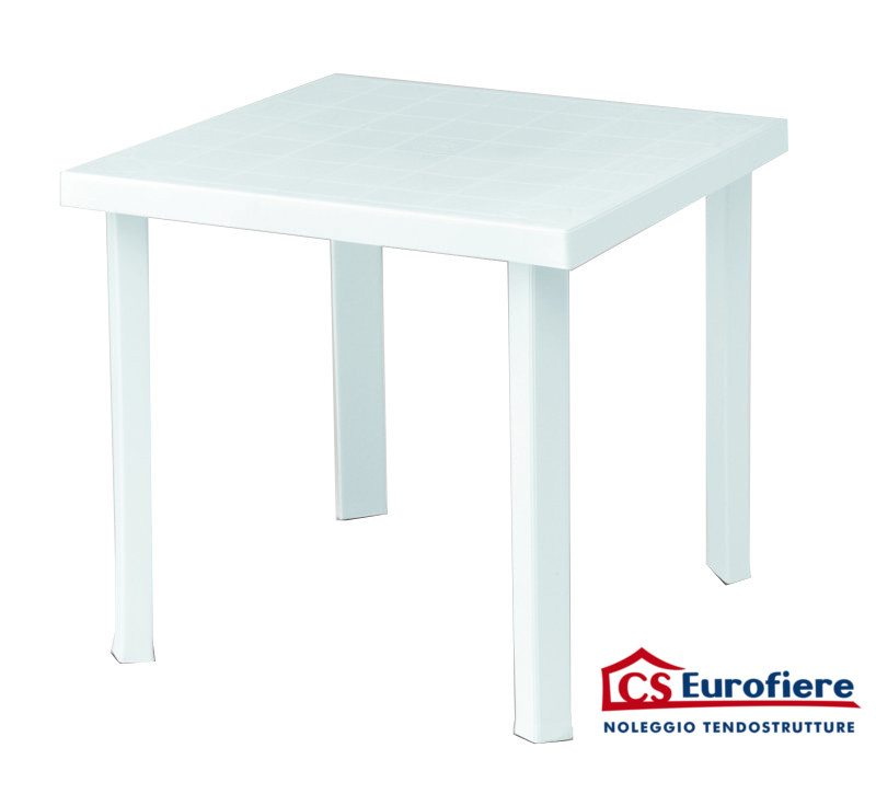 Tavoli Di Plastica Quadrati.Tavolo Quadrato In Resina C S Eurofiere