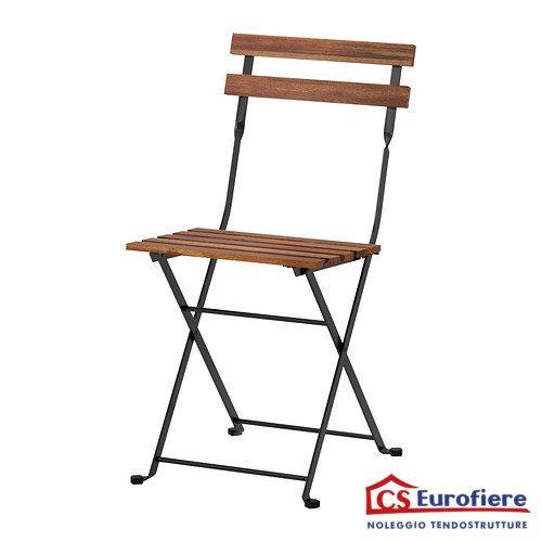 Sedia in ferro e legno pieghevole c s eurofiere for Sedie in ferro e legno