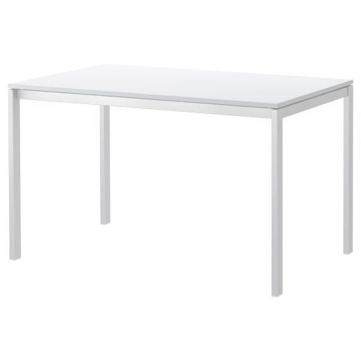Tavolo Legno e Ferro Bianco